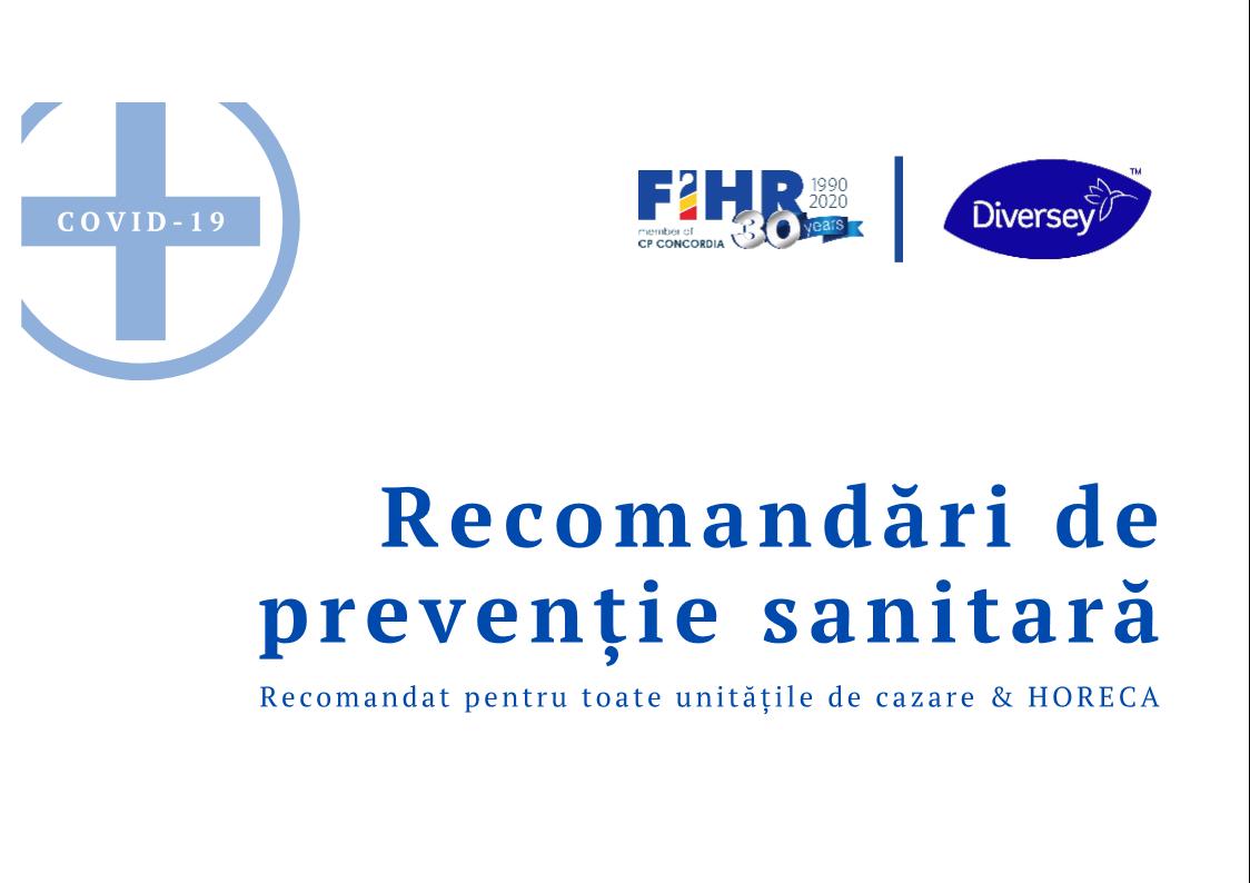 Recomandări de prevenție sanitară
