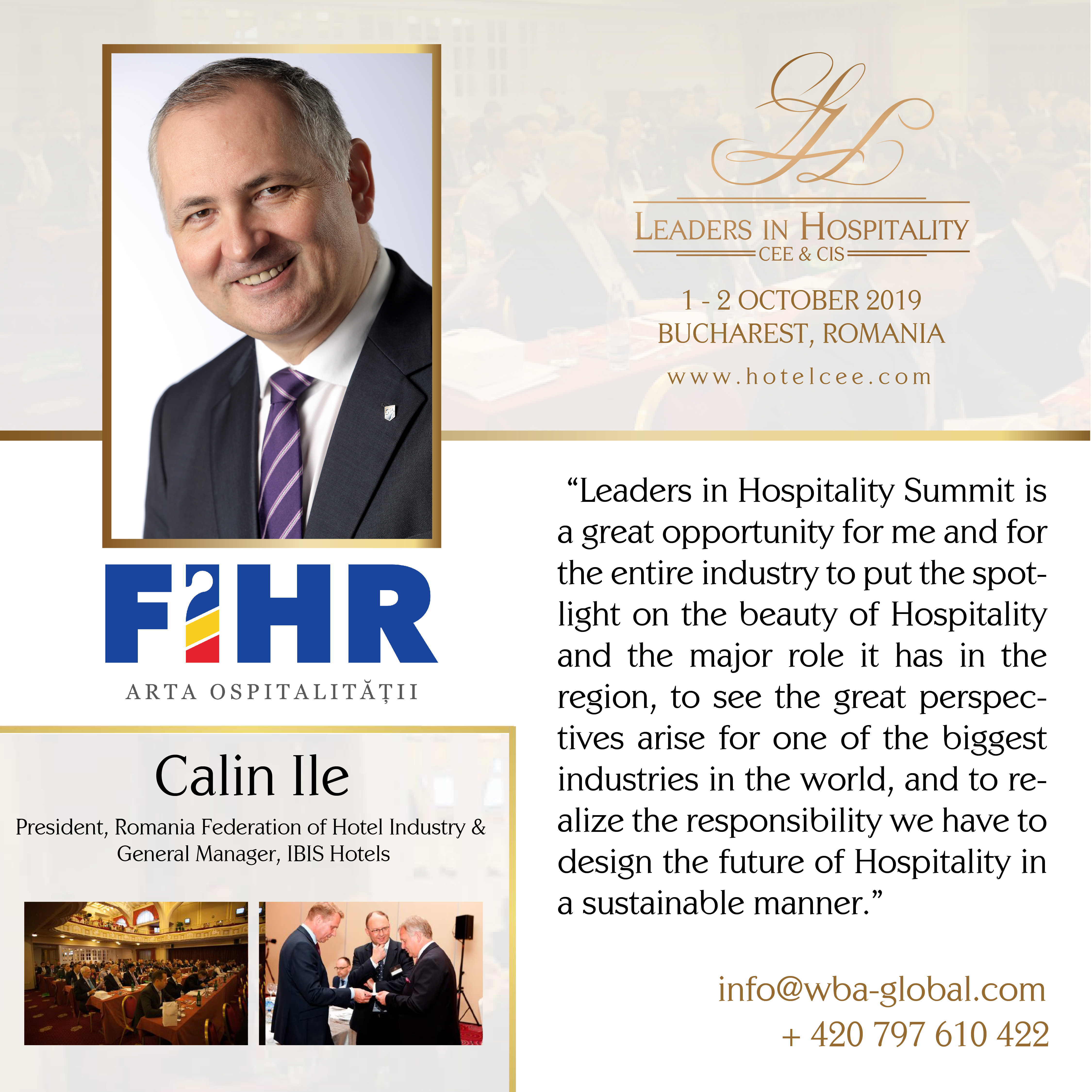 Calin Ile despre Leaders in Hospitality