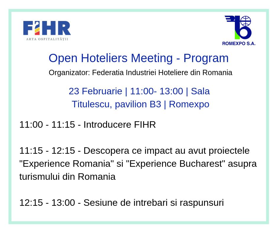 Program Open Hoteliers Meeting