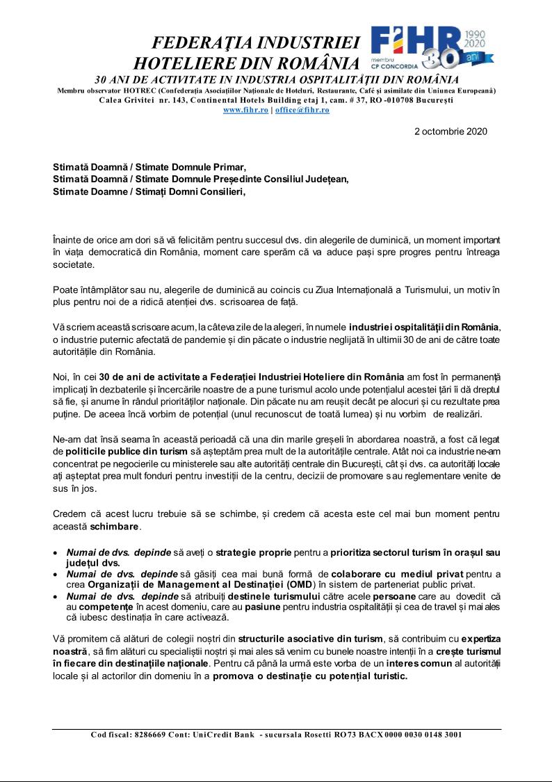 Scrisoare deschisă FIHR către autoritățile locale